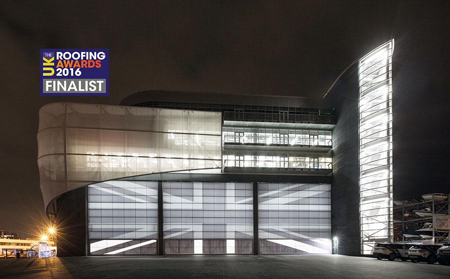 BAR Racing HQ Portsmouth Night Shot