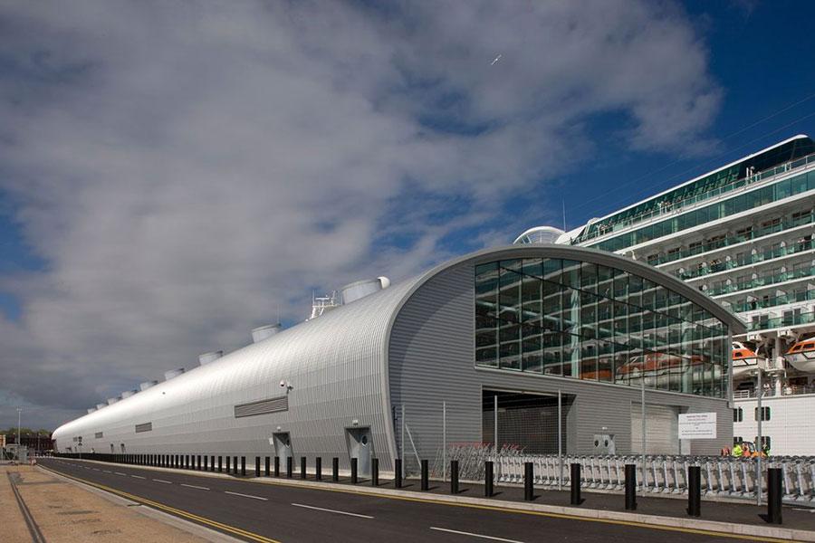 Ocean Terminal Southampton cloudy